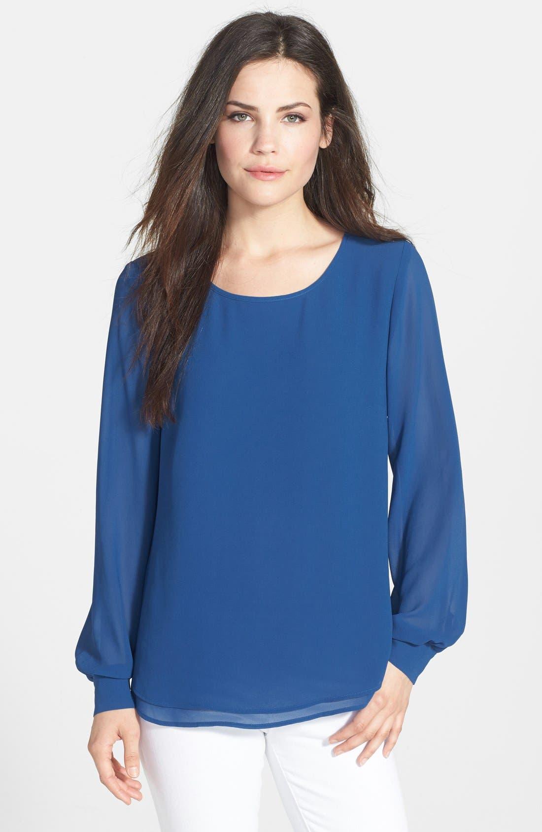 Alternate Image 1 Selected - Bellatrix Double Layer Long Sleeve Blouse
