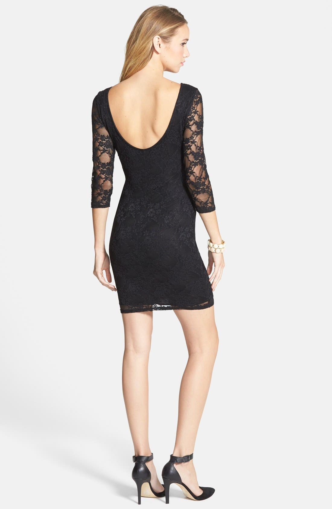 Alternate Image 2  - BP. Lace Body-Con Dress (Juniors)