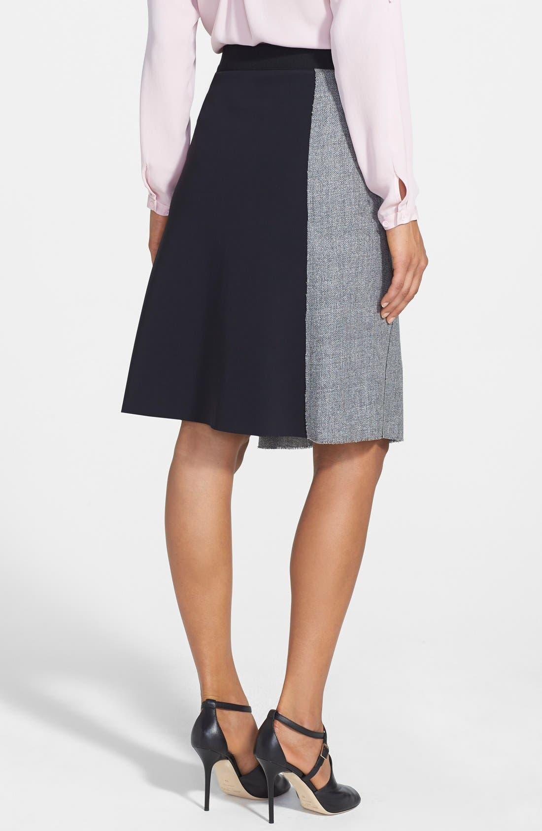 Alternate Image 2  - Elie Tahari 'Larissa' Colorblock Tweed Skirt