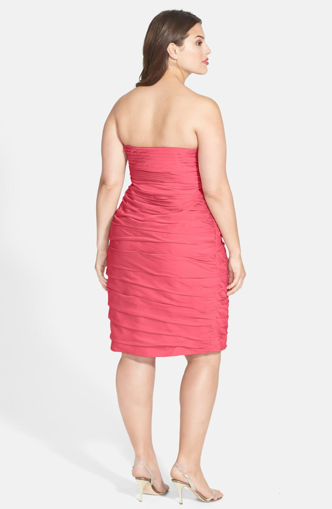 Alternate Image 5  - Monique Lhuillier Bridesmaids Ruched Strapless Cationic Chiffon Dress (Nordstrom Exclusive) (Regular & Plus Size)