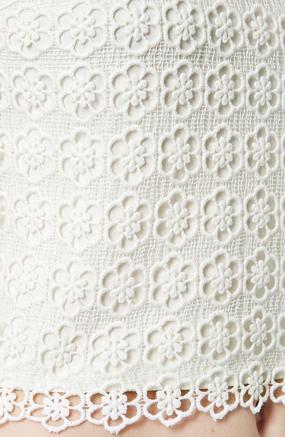 Alternate Image 3  - Topshop Crochet Crop Shell