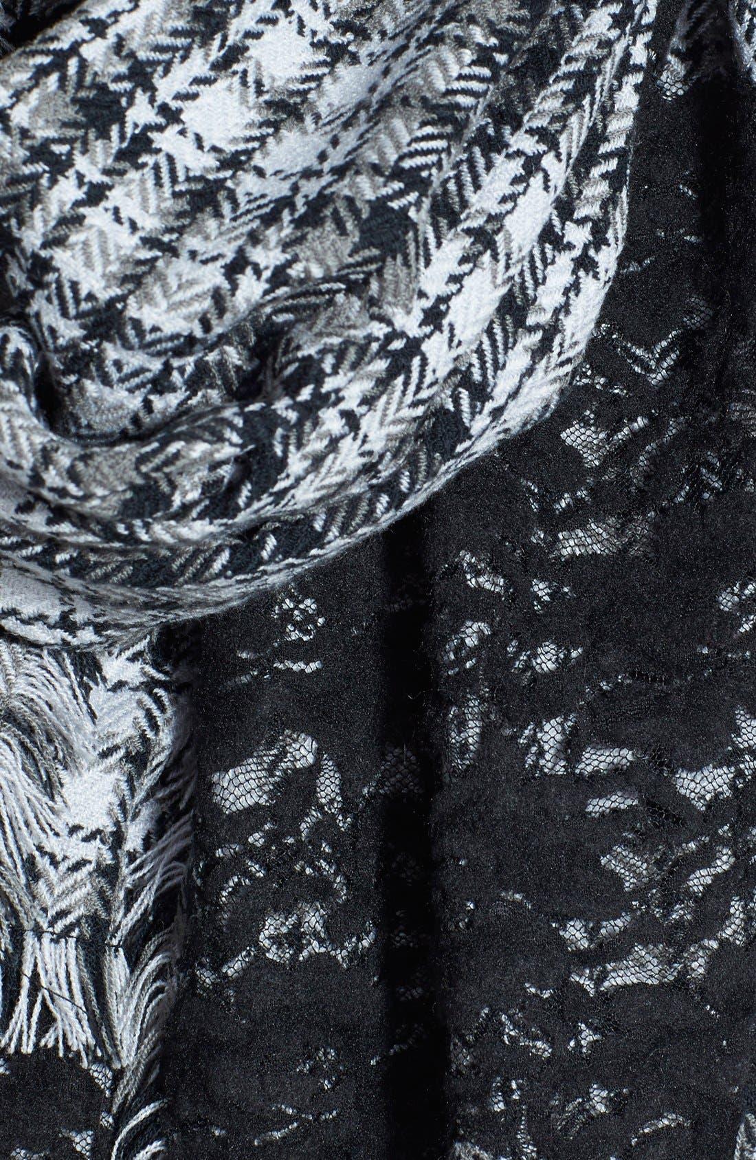 Alternate Image 3  - Halogen® Lace Detail Plaid Scarf