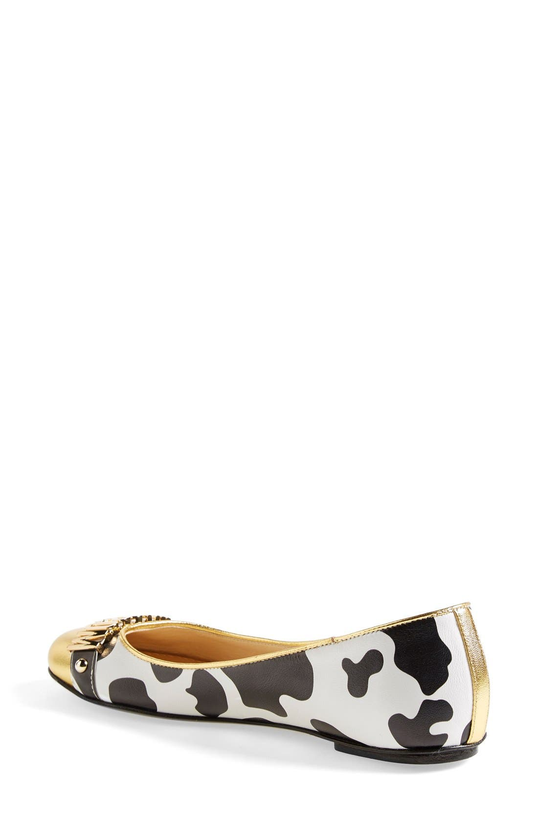 Alternate Image 2  - Moschino Logo Ballet Flat (Women)