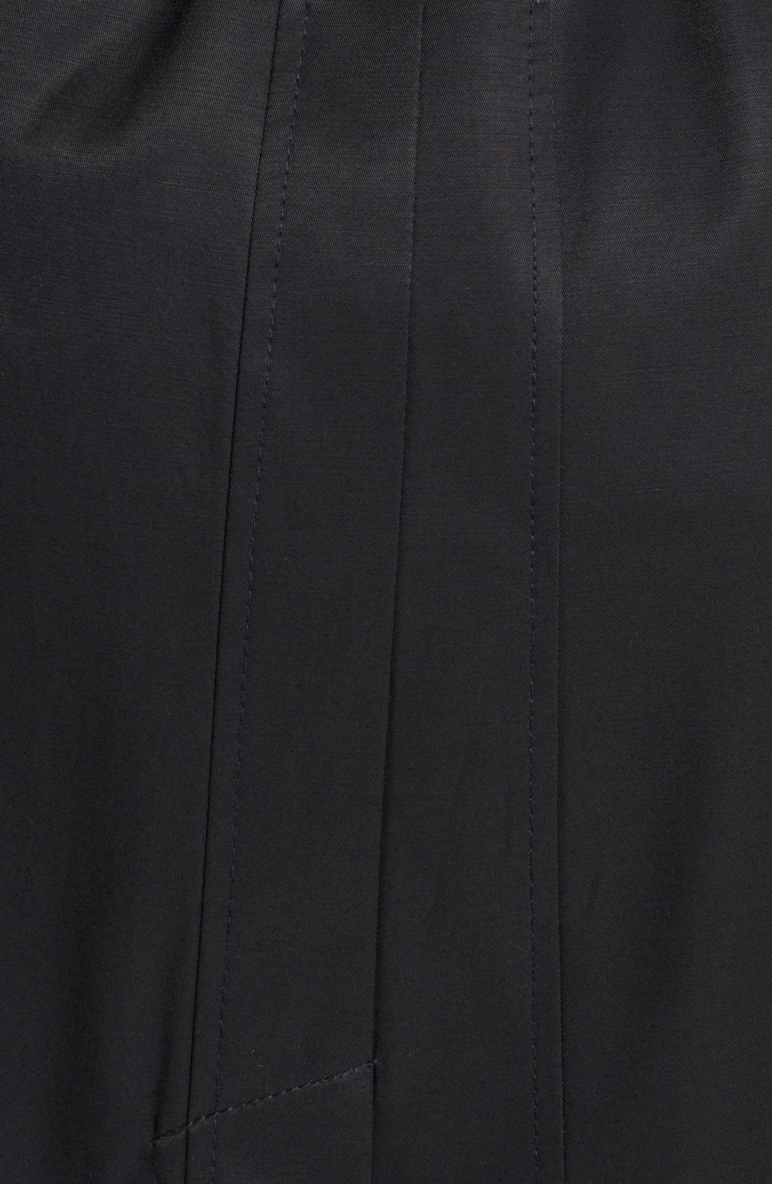 Alternate Image 3  - DKNY Long Trench Coat with Removable Hood (Plus Size)