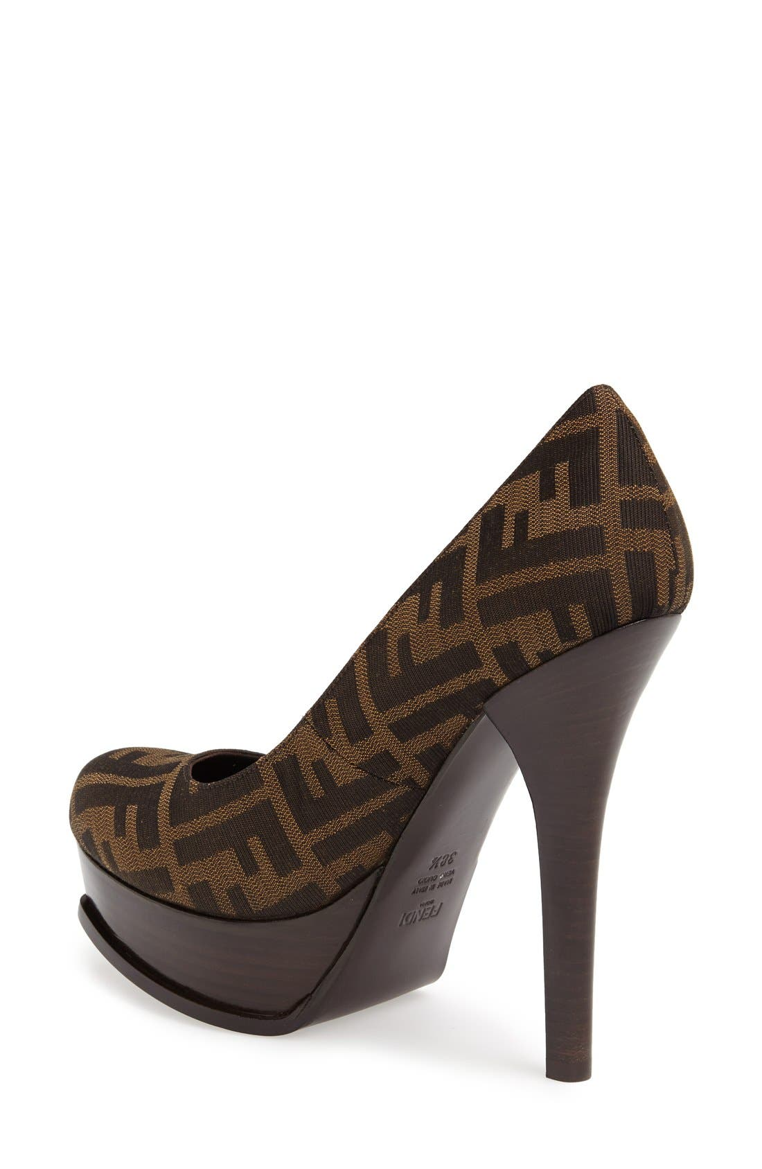 Alternate Image 2  - Fendi 'Fendista Zucca' Platform Pump
