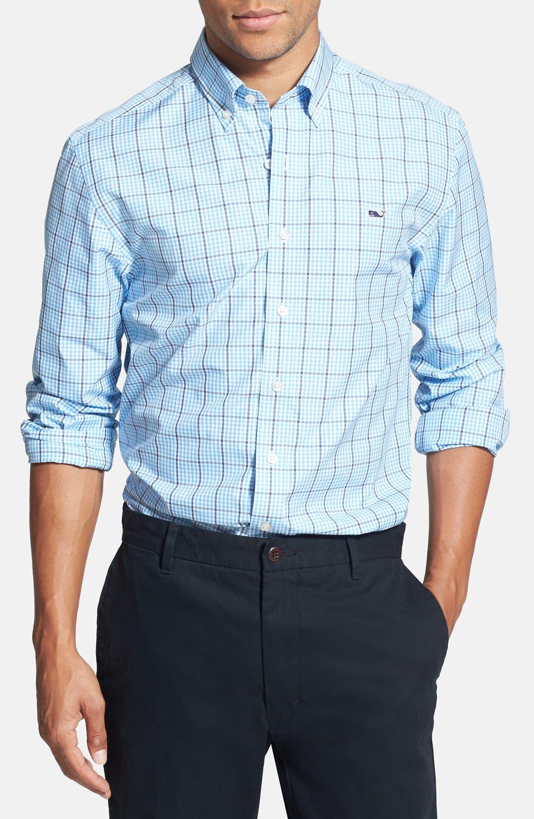 Main Image - Vineyard Vines 'Whale - Pembroke Plaid' Regular Fit Sport Shirt