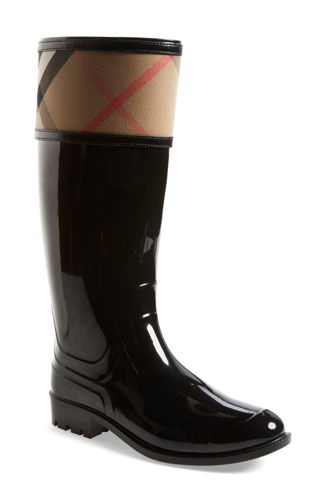 Alternate Image 1 Selected - Burberry Crosshill Rain Boot (Women)