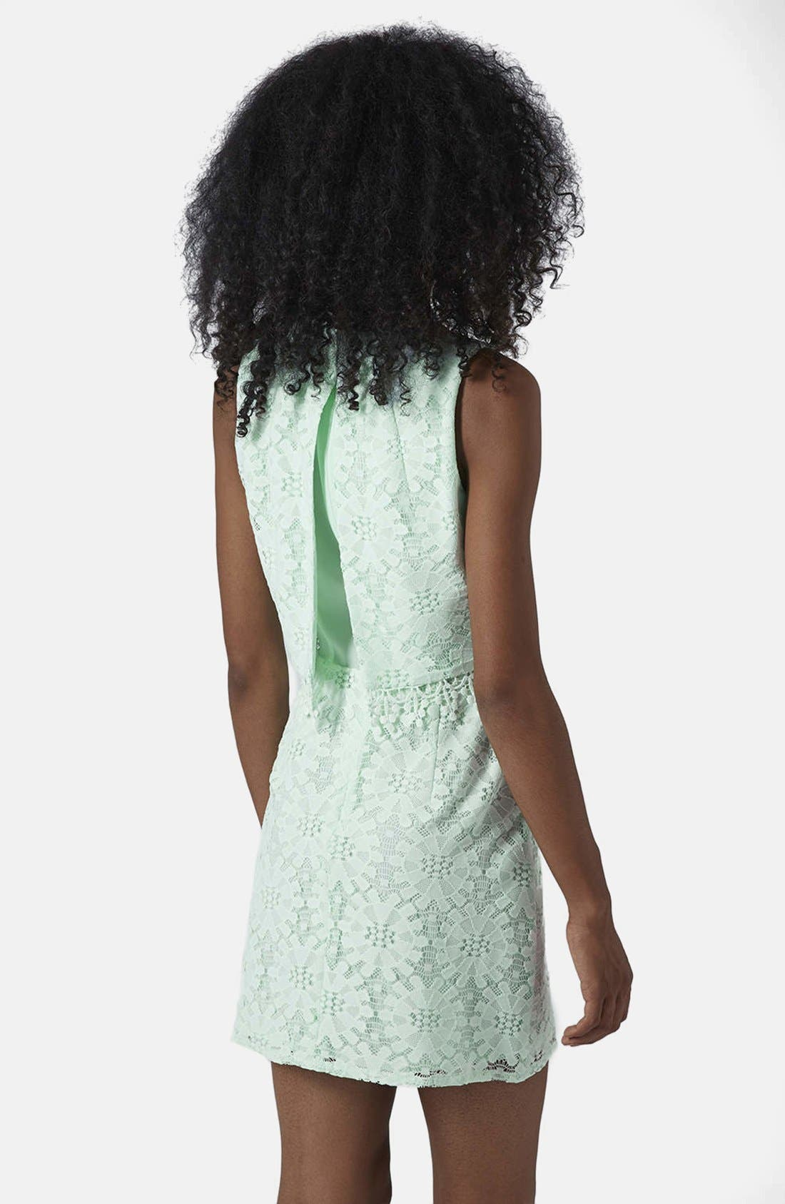 Alternate Image 2  - Topshop Lace Tiered Shift Dress