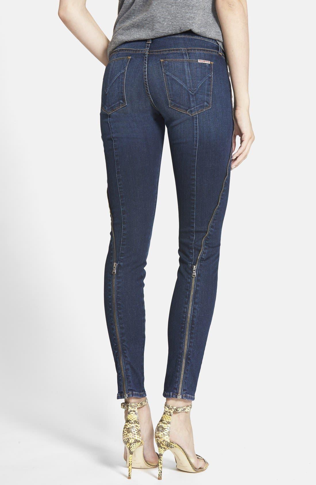 Alternate Image 2  - Hudson Jeans 'Spirit Punk' Zip Detail Skinny Jeans (Globetrotter)