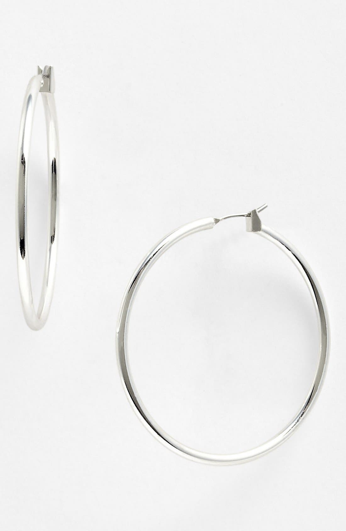 Alternate Image 1 Selected - Anne Klein Large Hoop Earrings