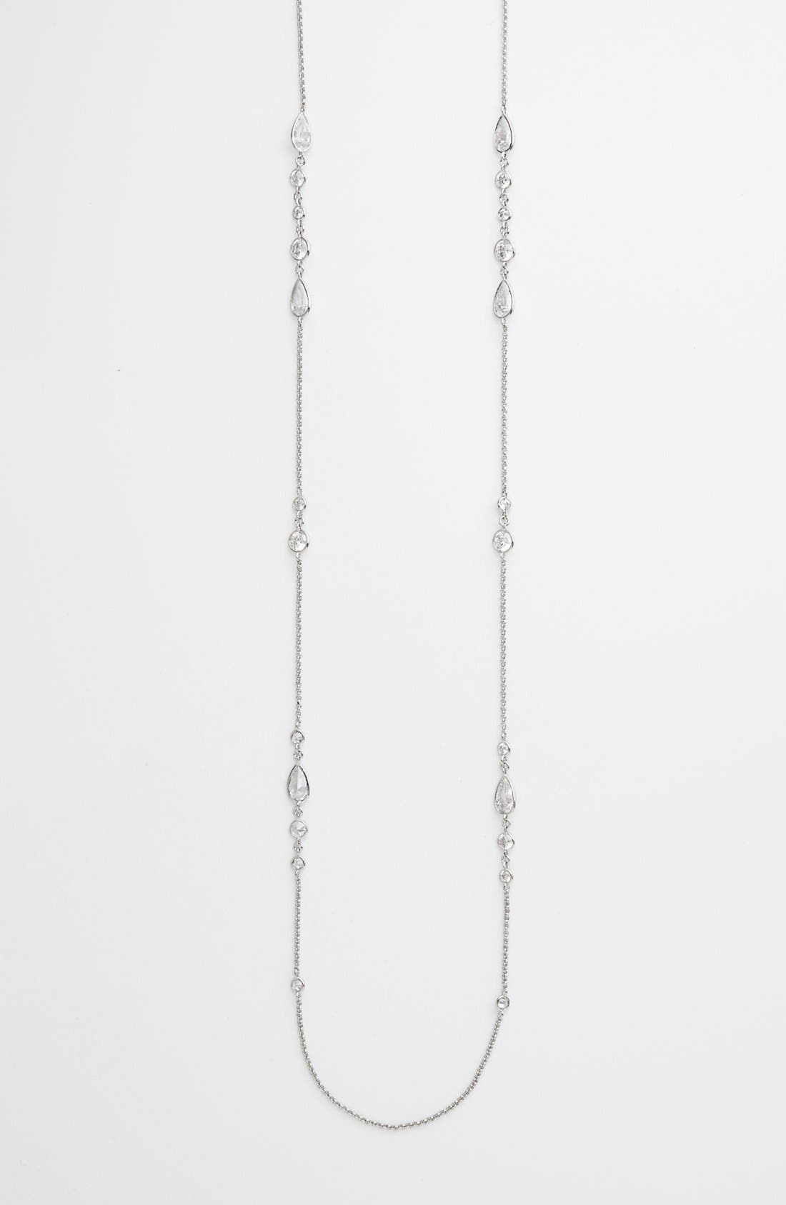 Main Image - Nadri Long Crystal Station Necklace (Nordstrom Exclusive)