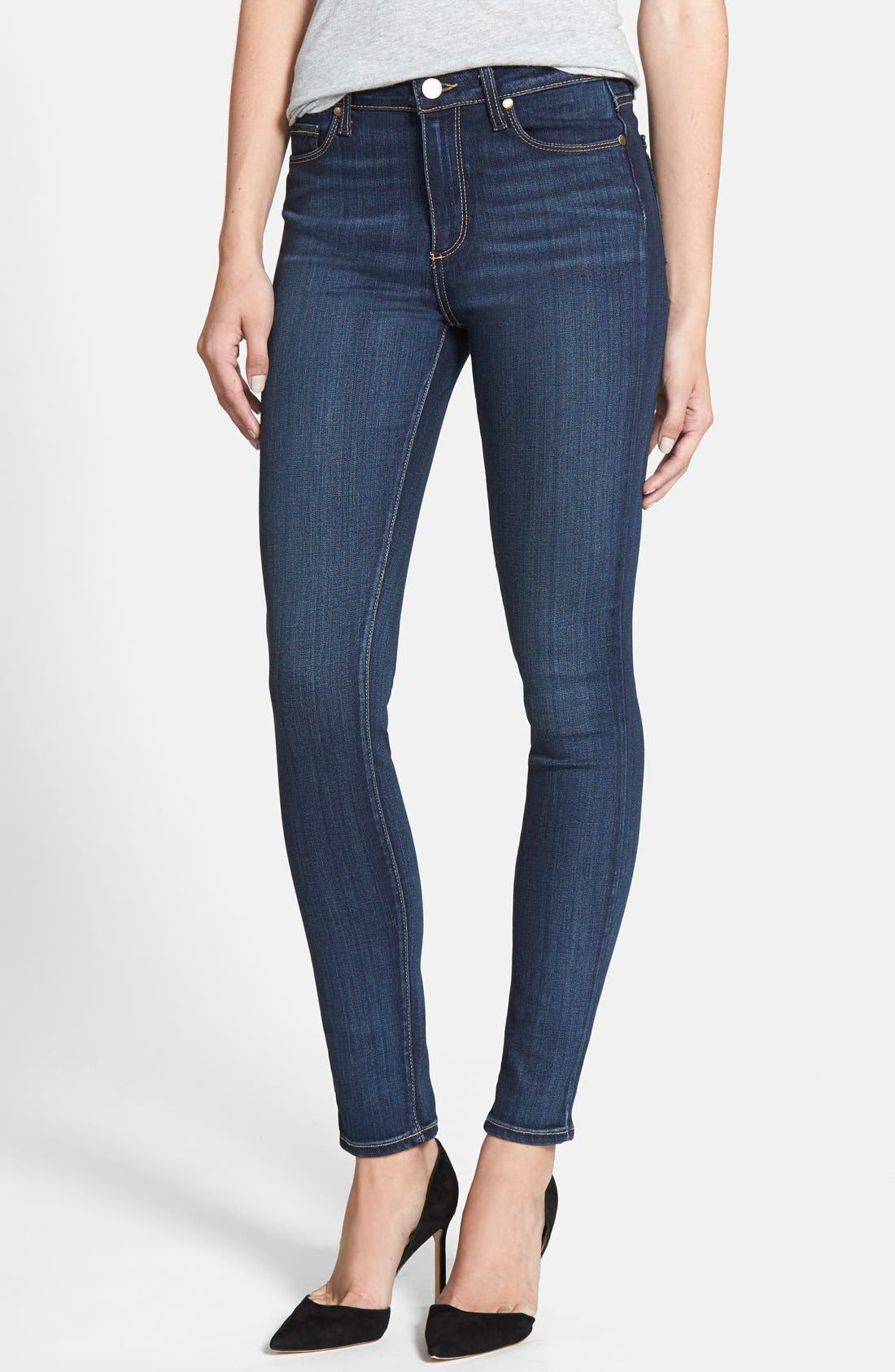 Alternate Image 1 Selected - PAIGE Transcend - Hoxton High Waist Skinny Jeans (Vista)