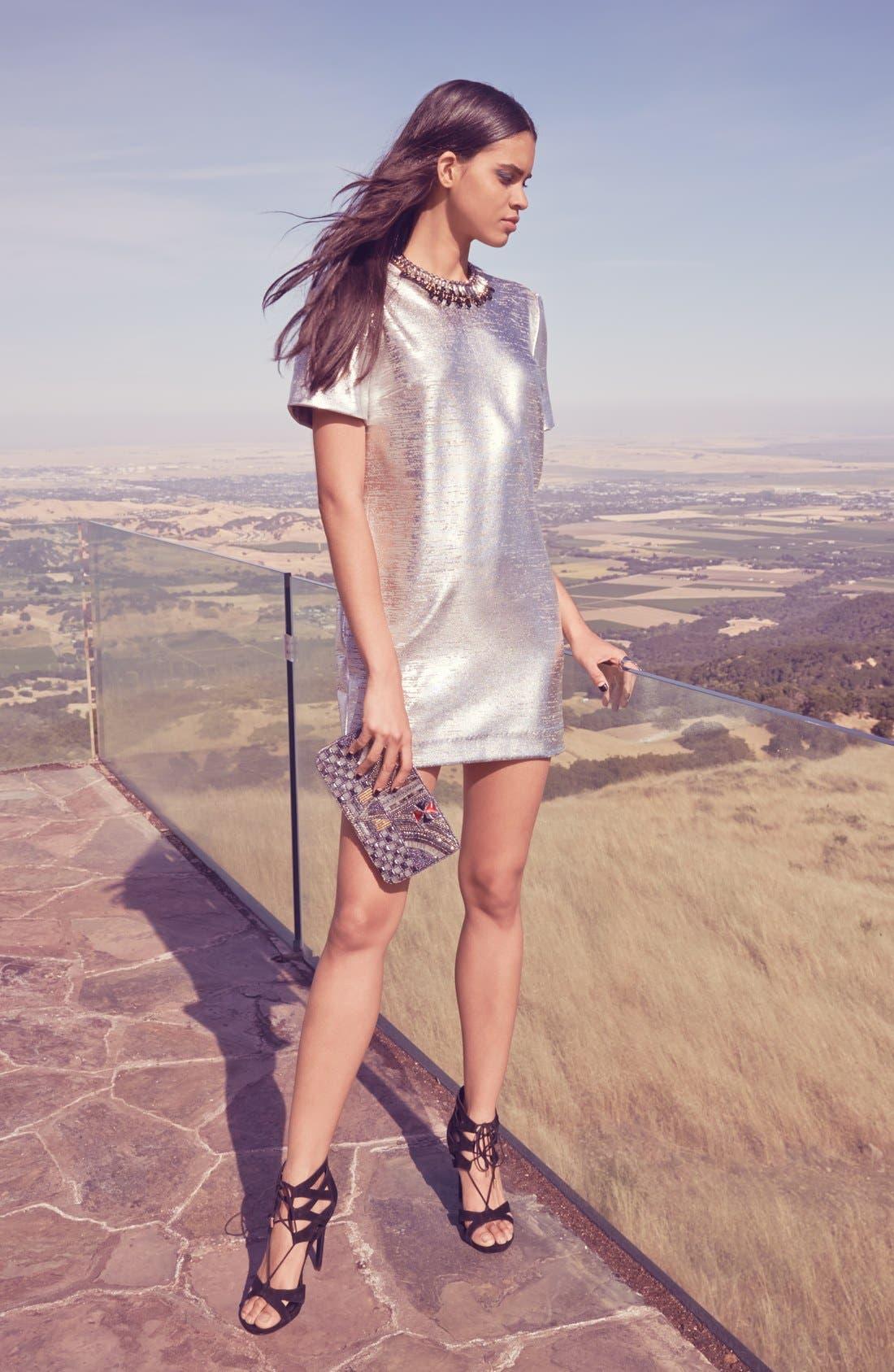 Alternate Image 4  - WAYF Metallic Minidress