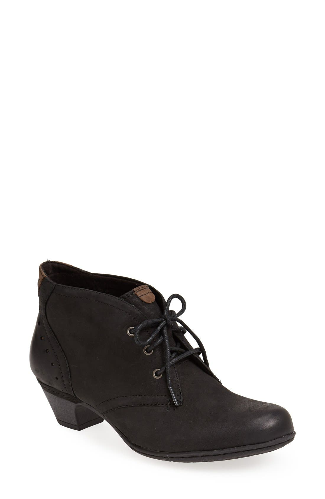 Aria Leather Boot,                         Main,                         color, Black