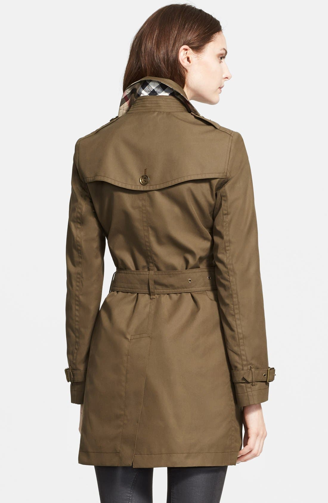 Alternate Image 2  - Burberry Brit 'Crombrook' Cotton Trench Coat