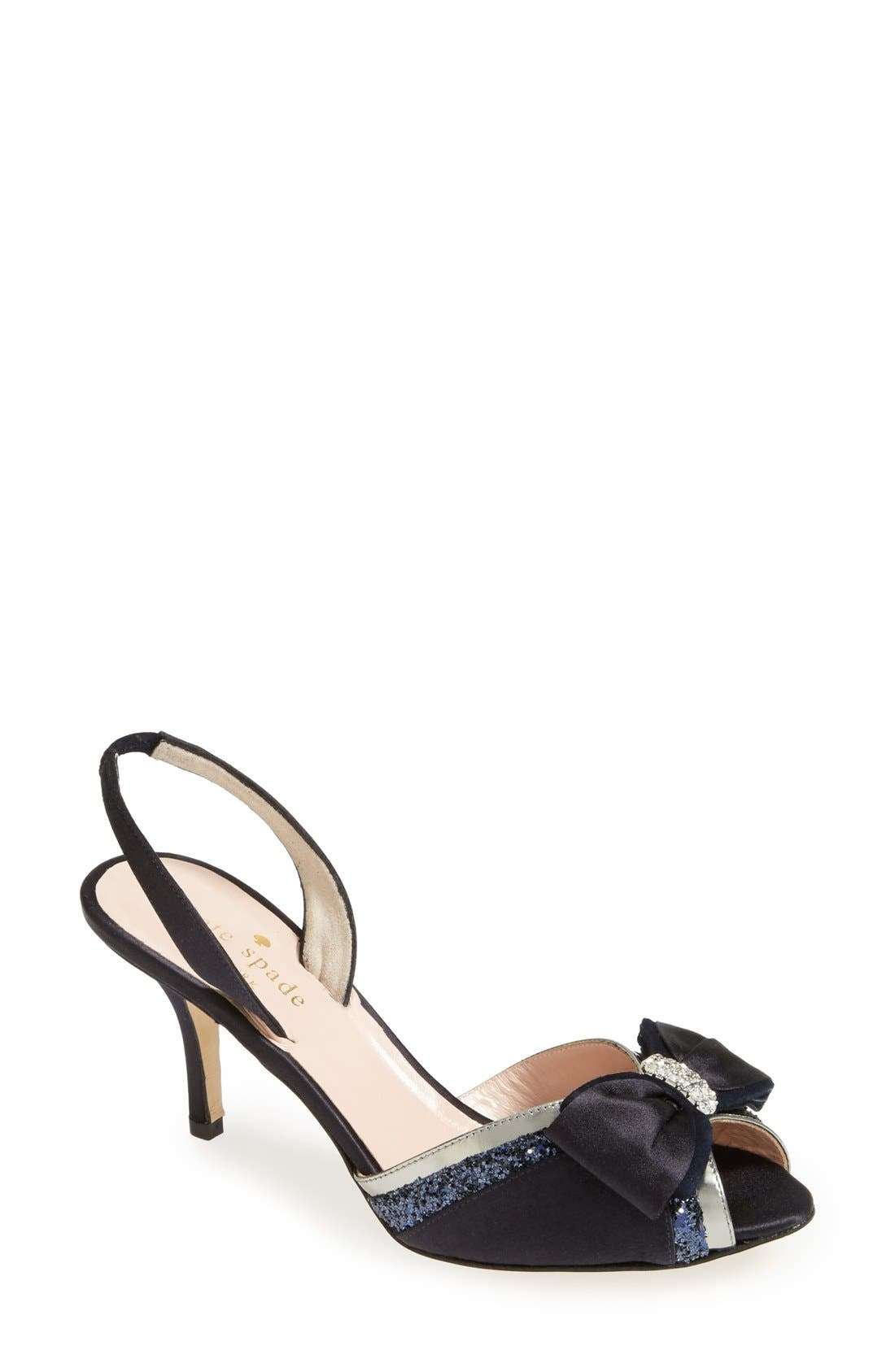 Main Image - kate spade new york 'solar' satin bow sandal (women)