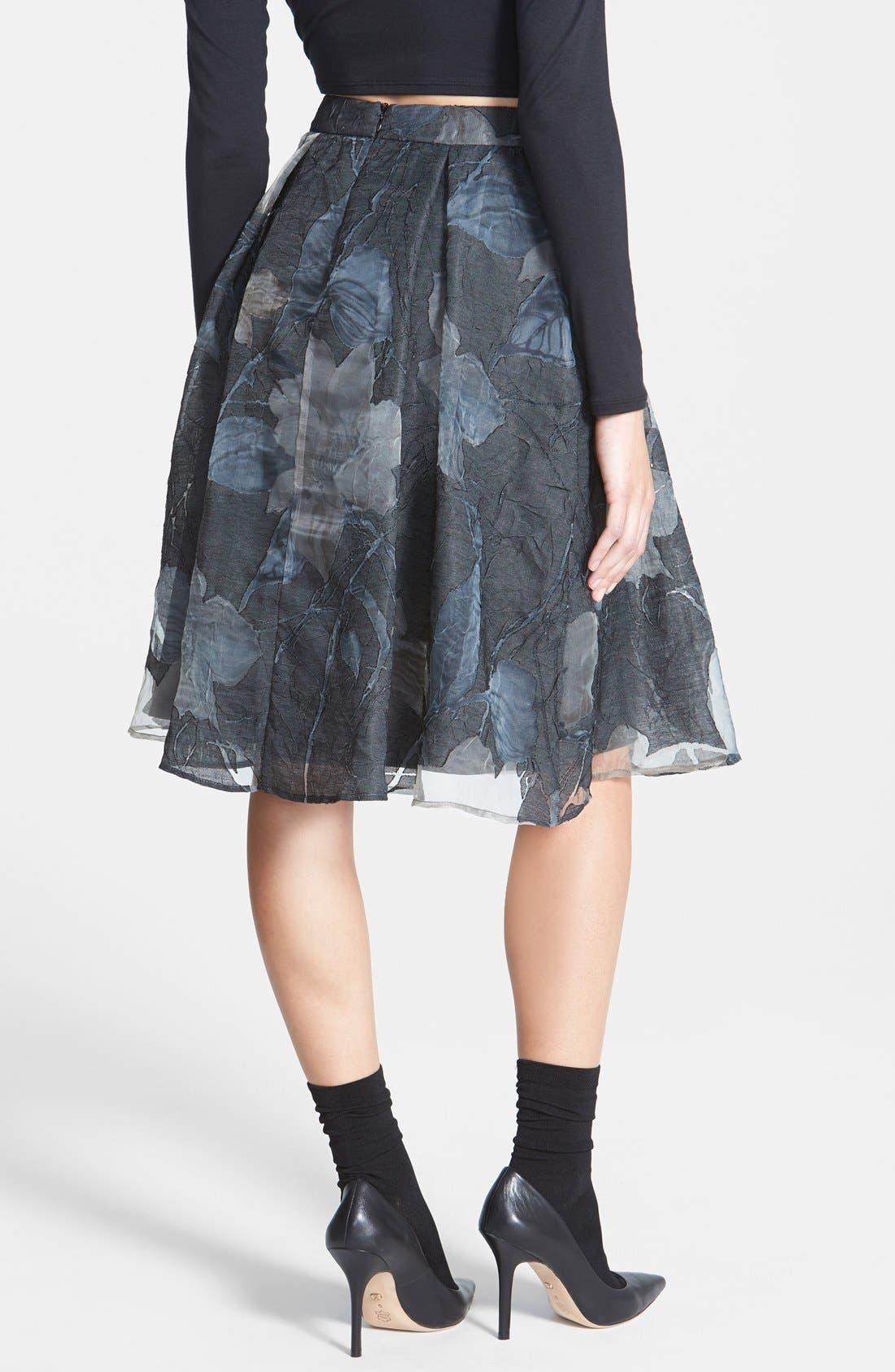 Alternate Image 2  - ASTR Floral Jacquard Midi Skirt