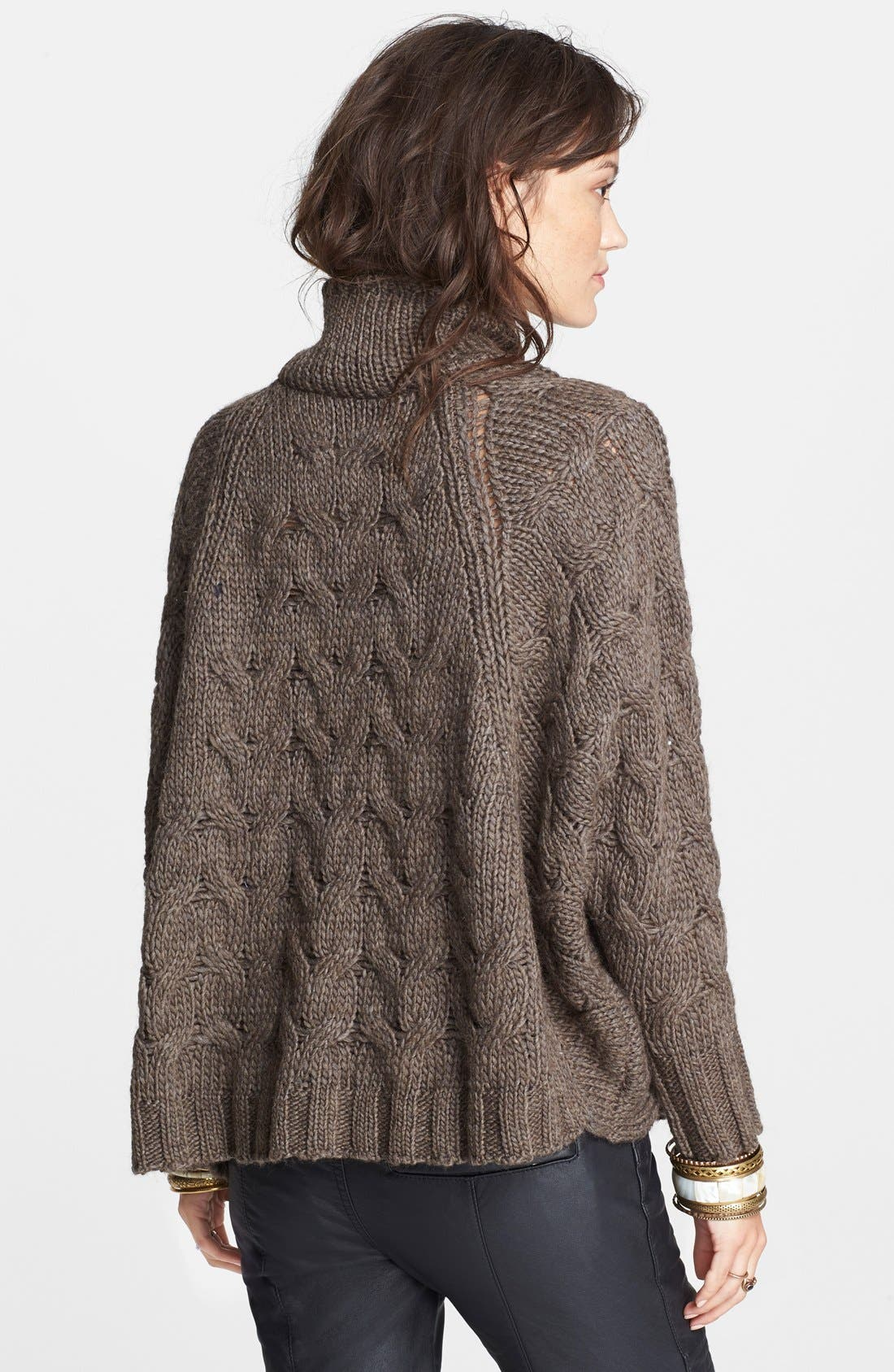 Alternate Image 2  - Free People Zip Front Cable Sweater