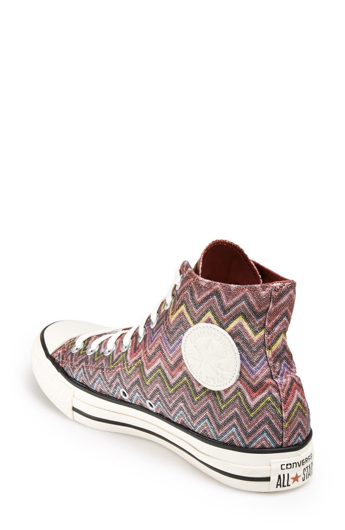 Alternate Image 2  - Converse x Missoni Chuck Taylor® All Star® High Top Sneaker (Women)