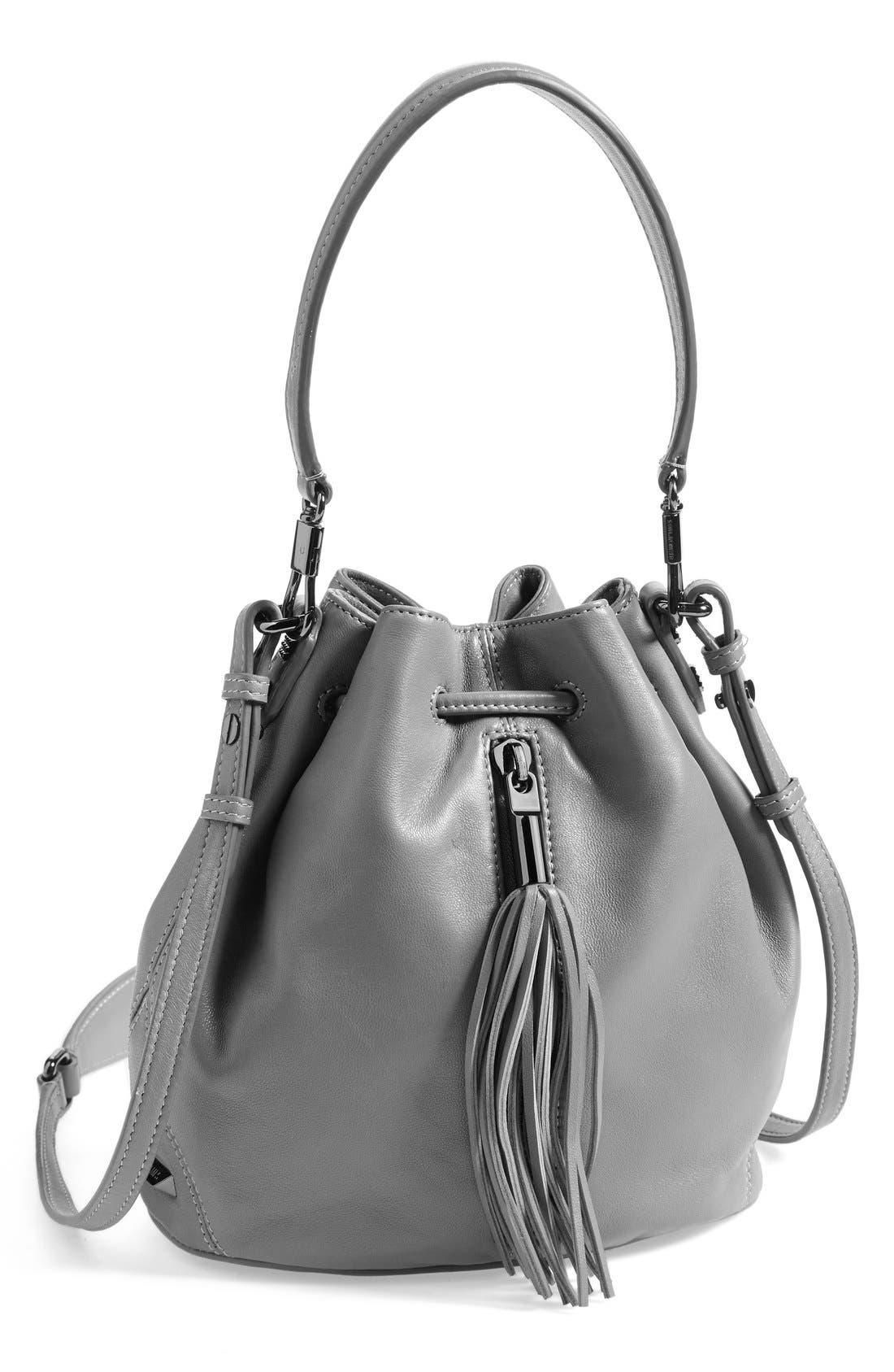 'Mini Cynnie' Convertible Bucket Bag,                             Main thumbnail 1, color,                             Ferro