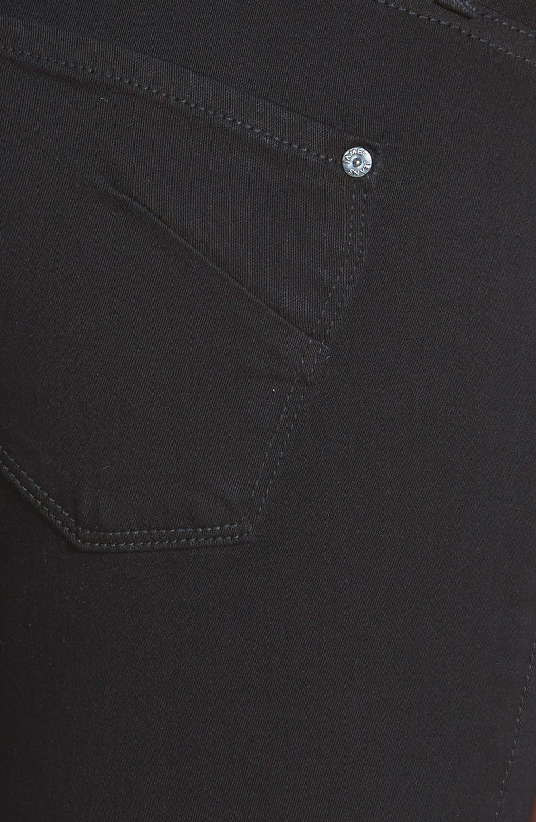 Alternate Image 3  - James Jeans 'Twiggy' Five Pocket Leggings (Black Clean)