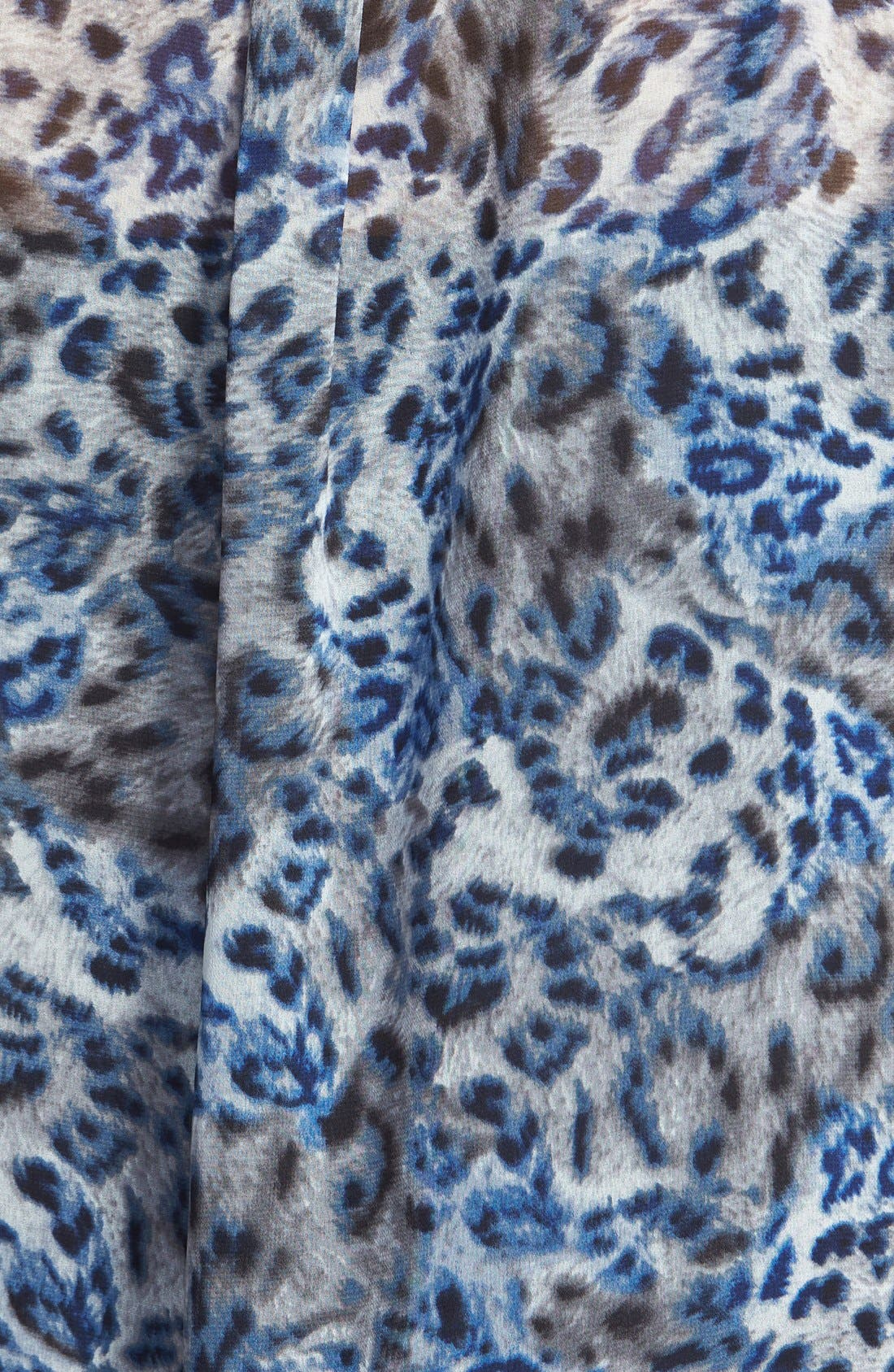 Alternate Image 3  - Two by Vince Camuto Leopard Print Utility Blouse