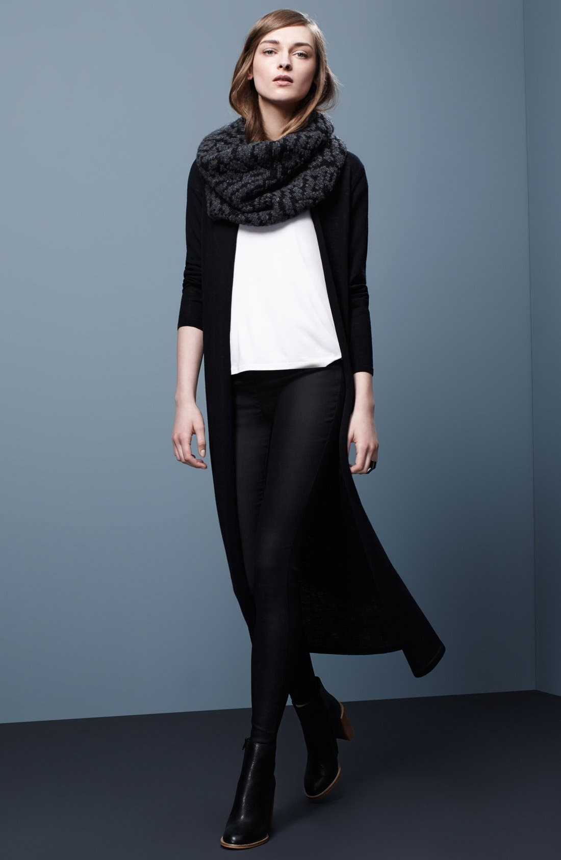 Alternate Image 5  - Eileen Fisher Long Wool Jersey Cardigan (Regular & Petite)