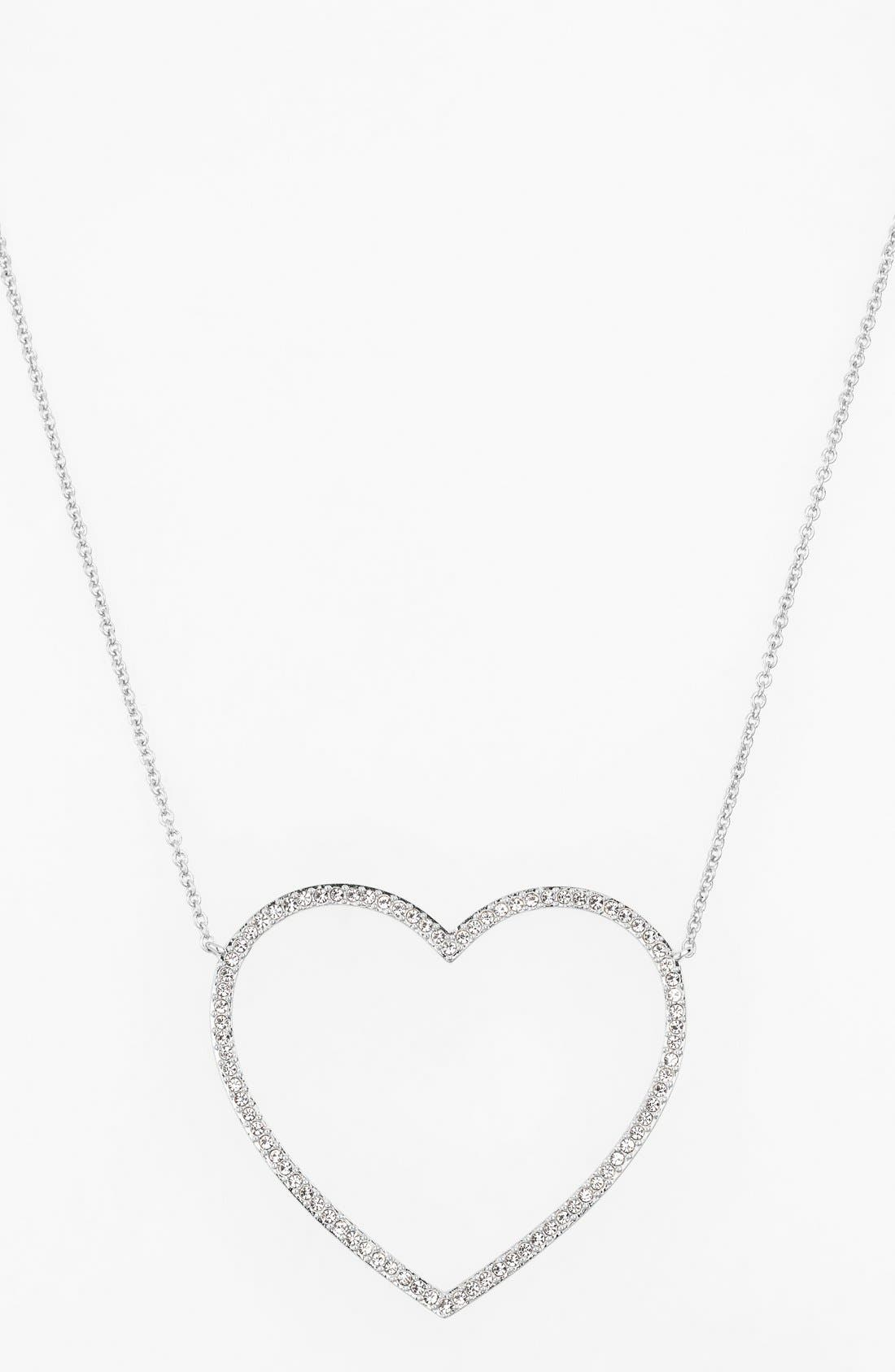 Main Image - Nadri Pavé Heart Pendant Necklace