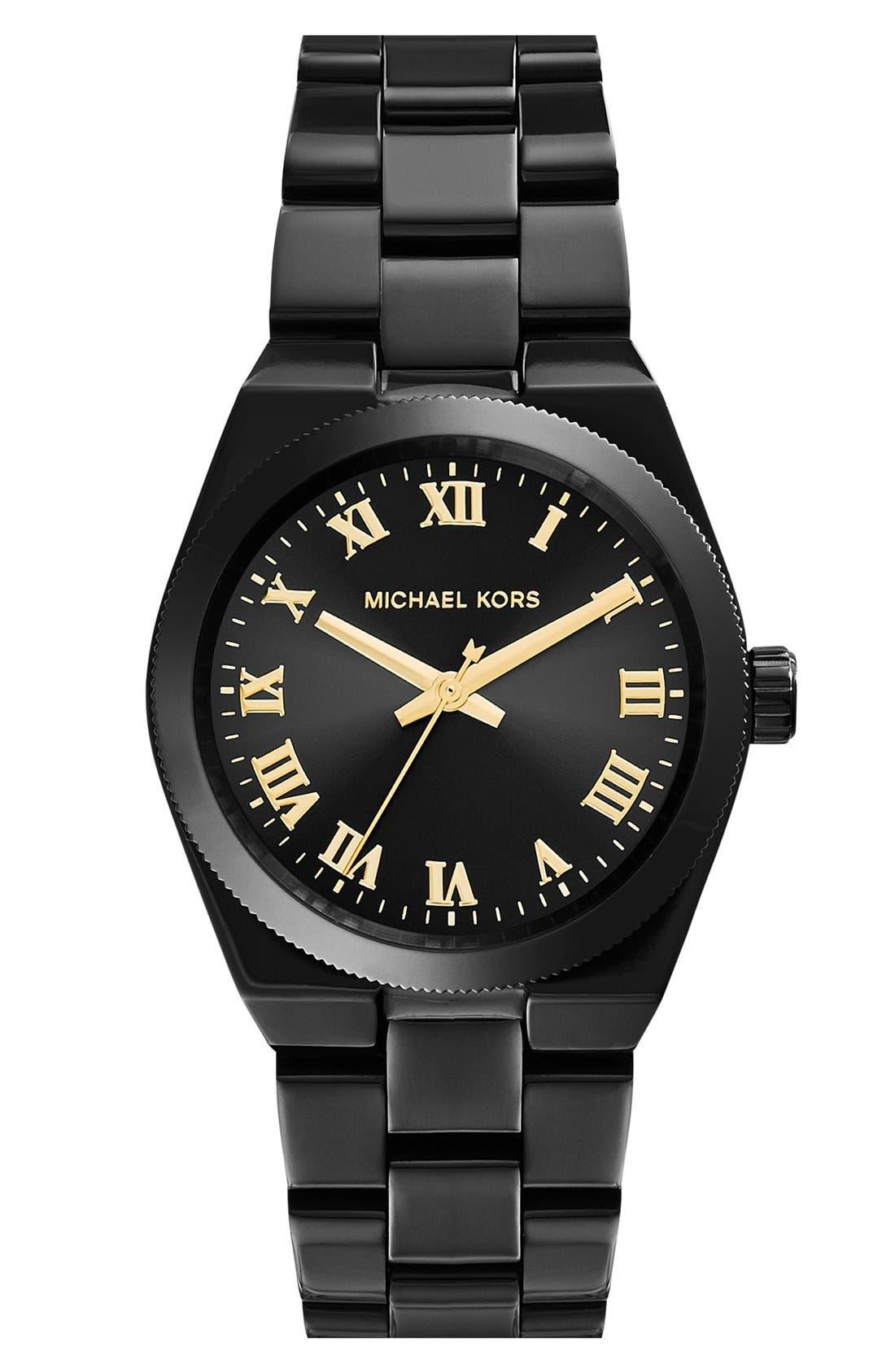 Alternate Image 1 Selected - Michael Kors 'Mini Channing' Round Bracelet Watch, 33mm