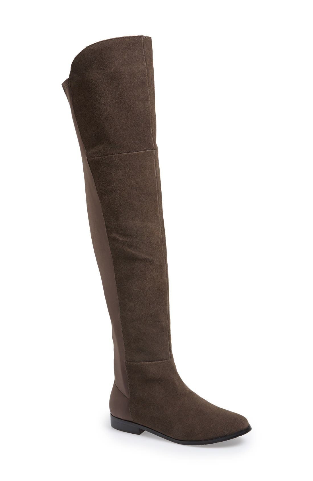 Main Image - Chinese Laundry 'Riley' Stretch Back Suede Over The Knee Boot (Women)