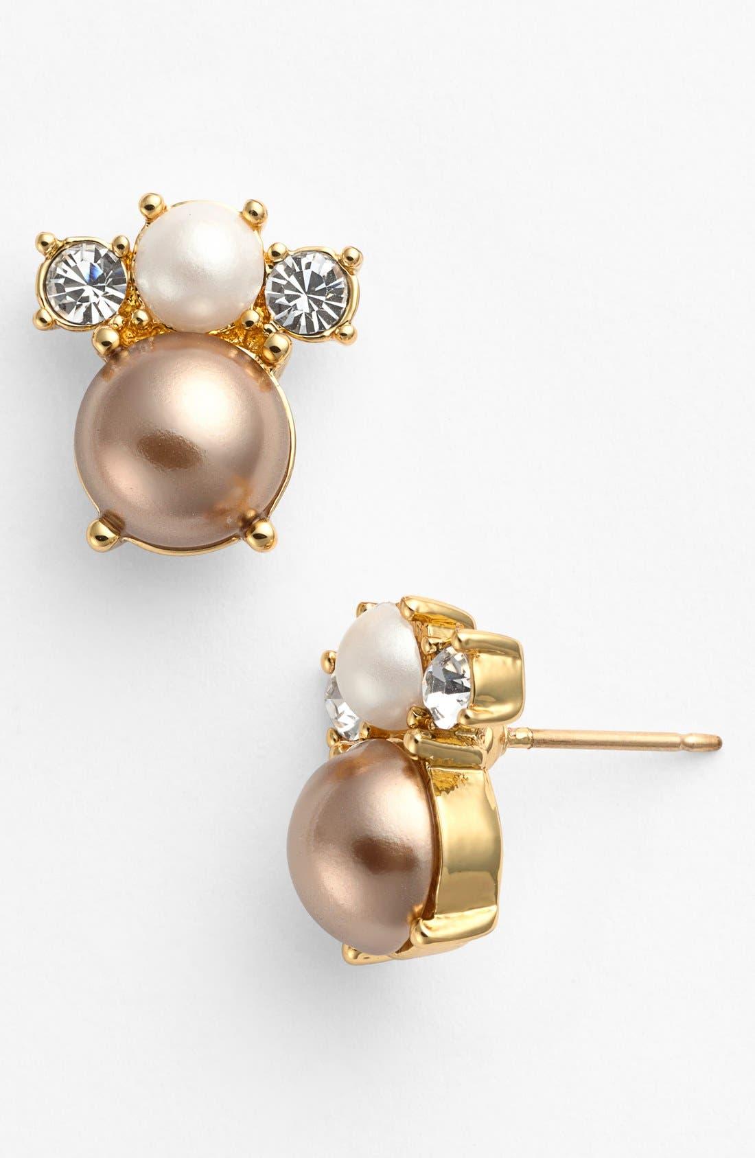 Main Image - kate spade new york 'parlour pearls' stud earrings