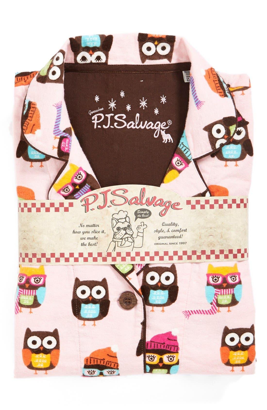 Alternate Image 4  - PJ Salvage Print Flannel Pajamas