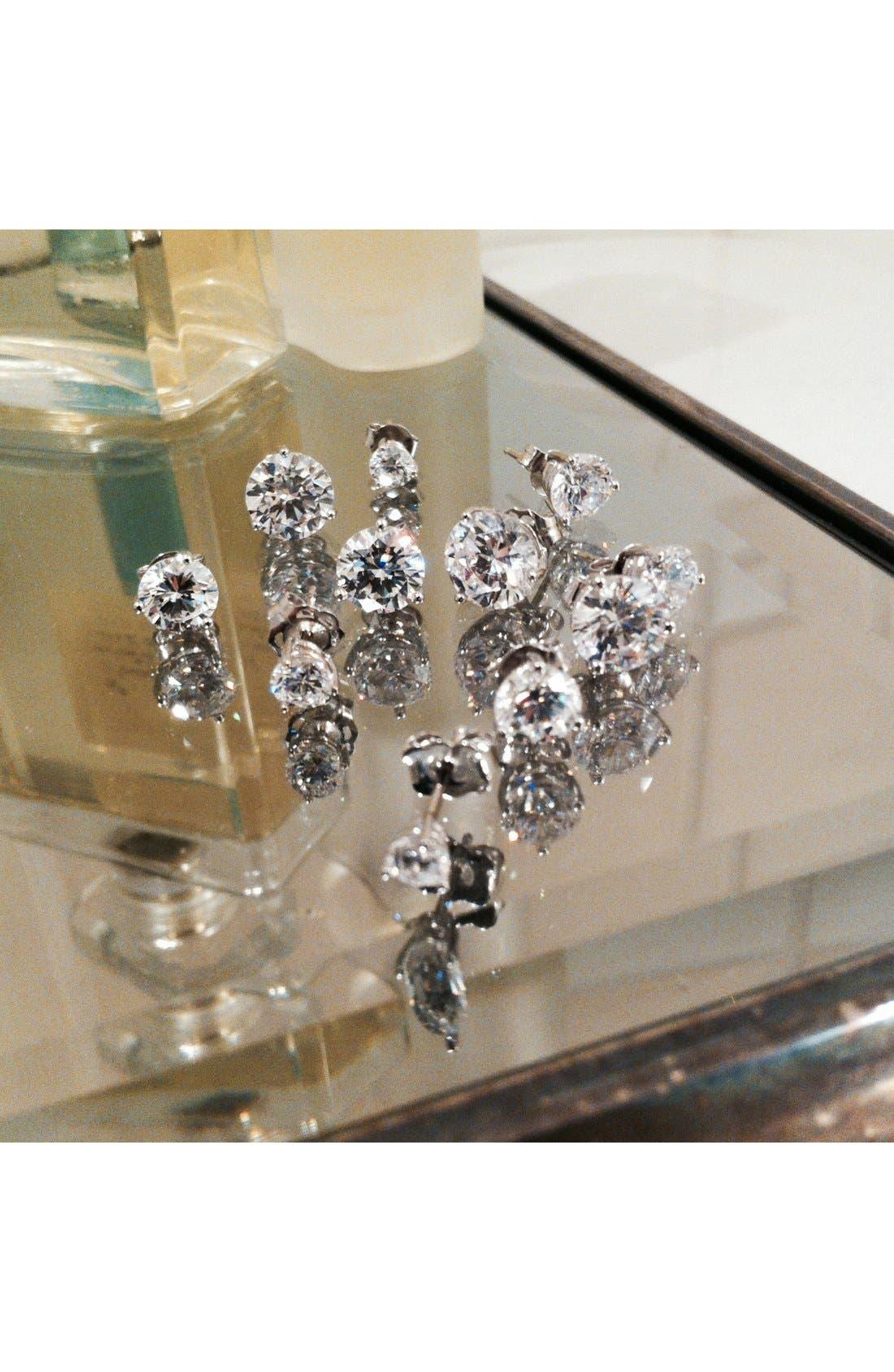 Alternate Image 6  - Nordstrom Precious Metal Plated 2ct tw Cubic Zirconia Earrings