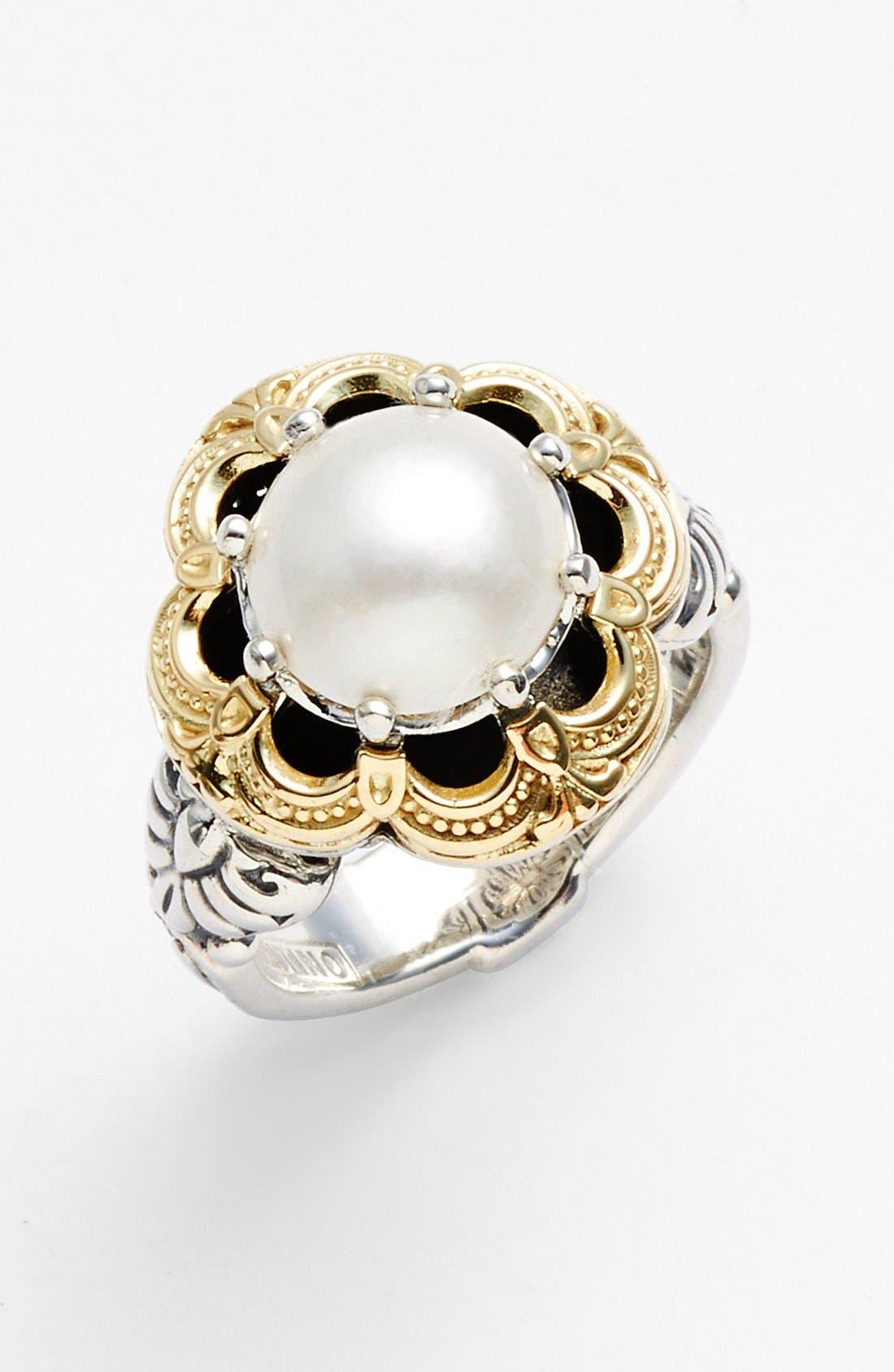 'Hermione' Semiprecious Stone Ring,                             Main thumbnail 1, color,                             Silver/ Gold
