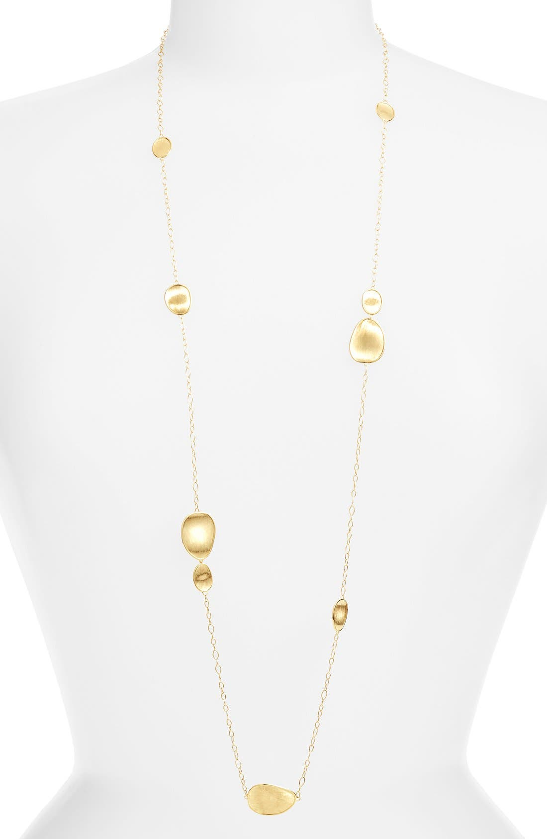 'Lunaria' Long Station Necklace,                         Main,                         color, Yellow Gold
