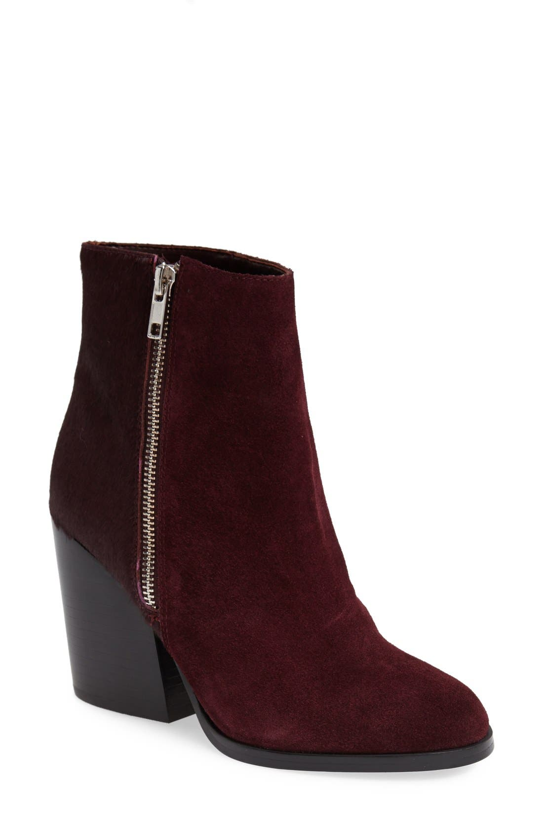 Main Image - Peace Love Shea Steve Madden 'Tstudio' Leather & Calf Hair Bootie (Women)