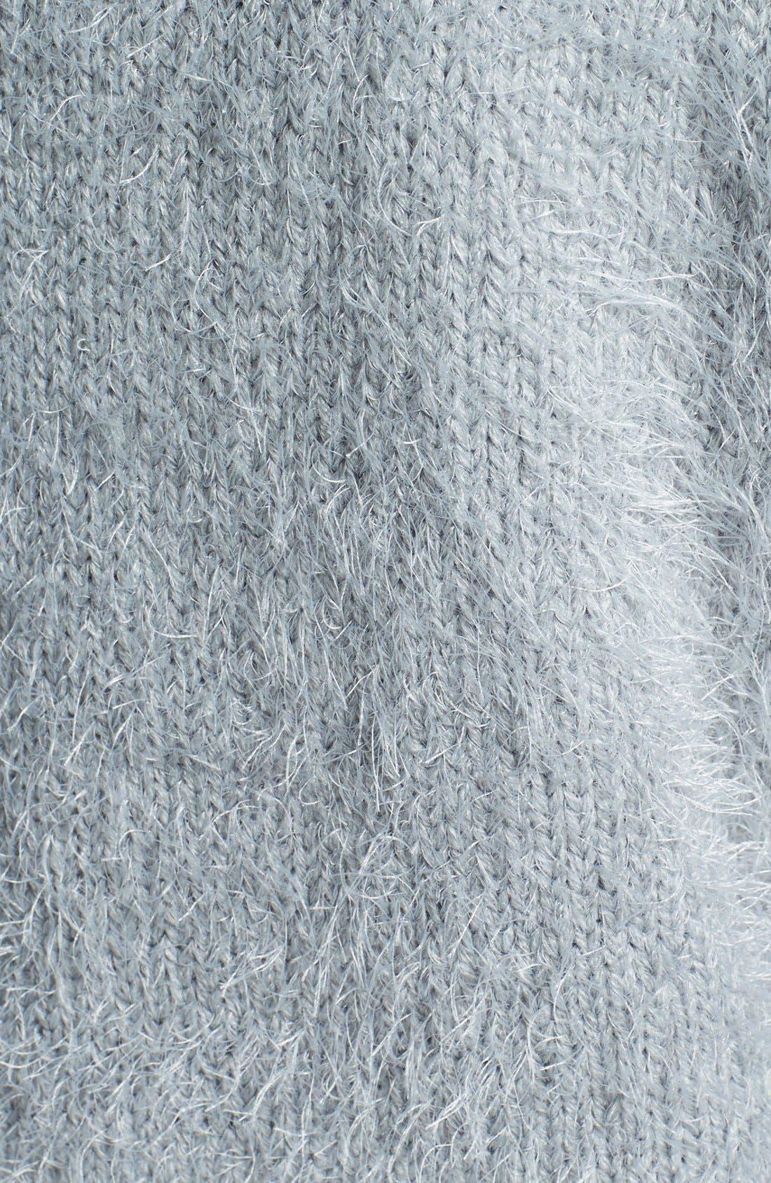 Alternate Image 3  - Gibson Eyelash Yarn Crop Sweater