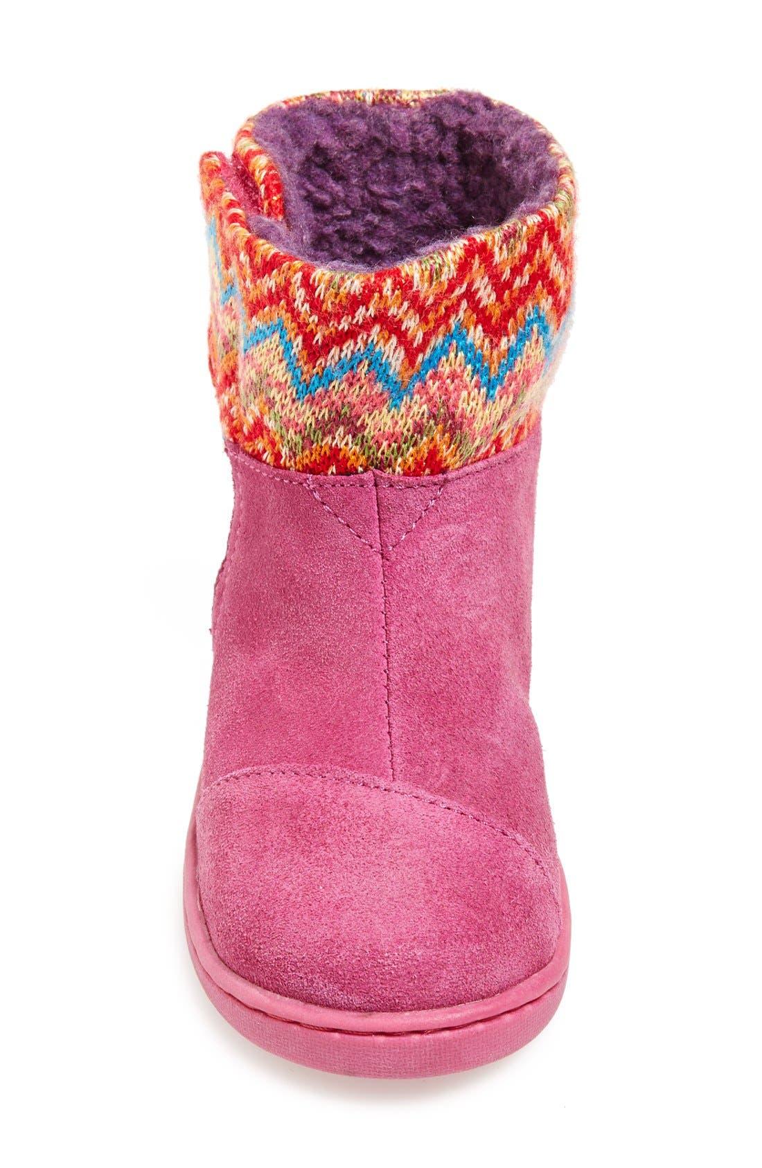 'Nepal - Tiny' Boot,                             Alternate thumbnail 3, color,                             Pink Multi Zigzag