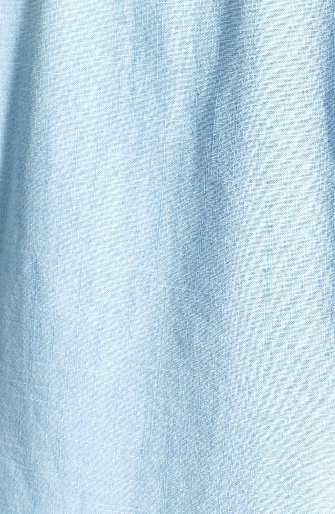 Alternate Image 3  - Halogen® Embellished Denim Shirt (Regular & Petite)