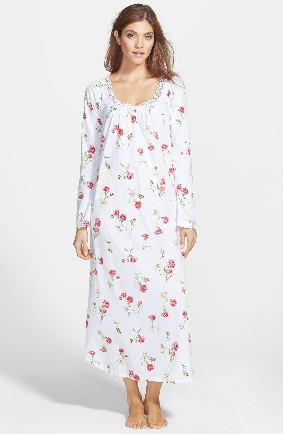 Main Image - Carole Hochman Designs 'Forever Carnation' Long Nightgown