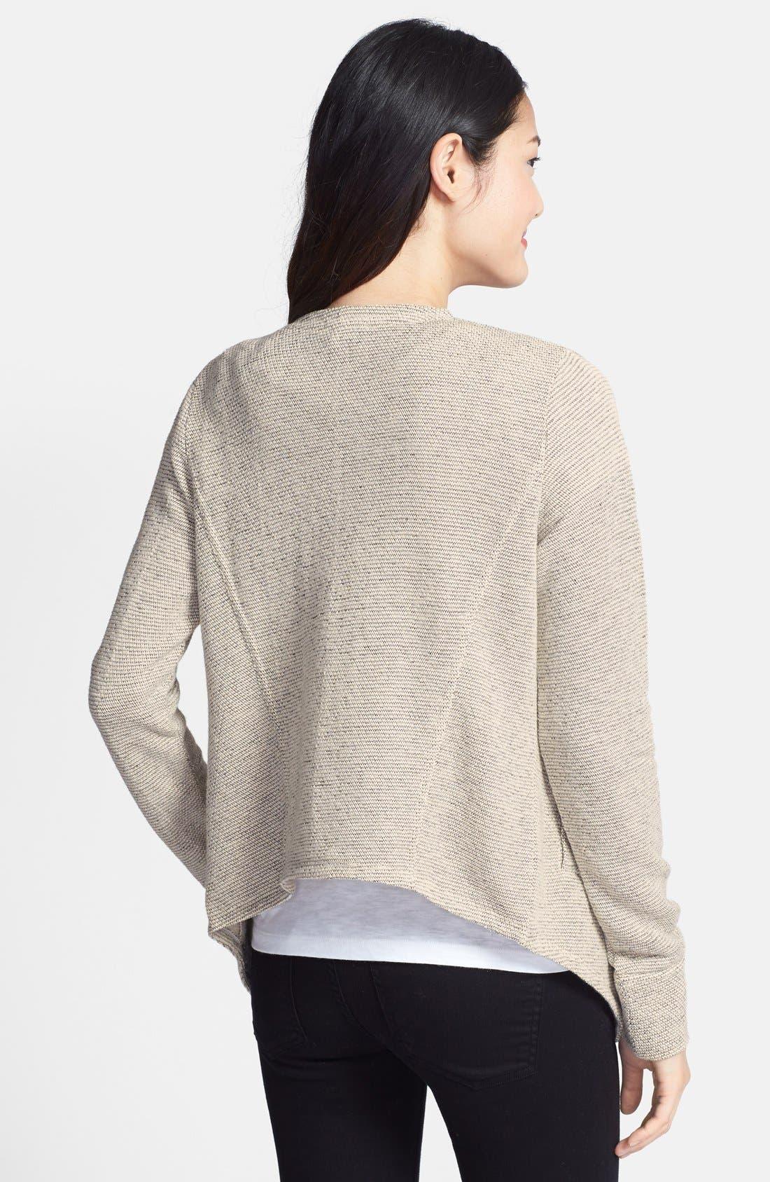 Alternate Image 2  - Caslon® Tweedy Terry Knit Drape Front Jacket