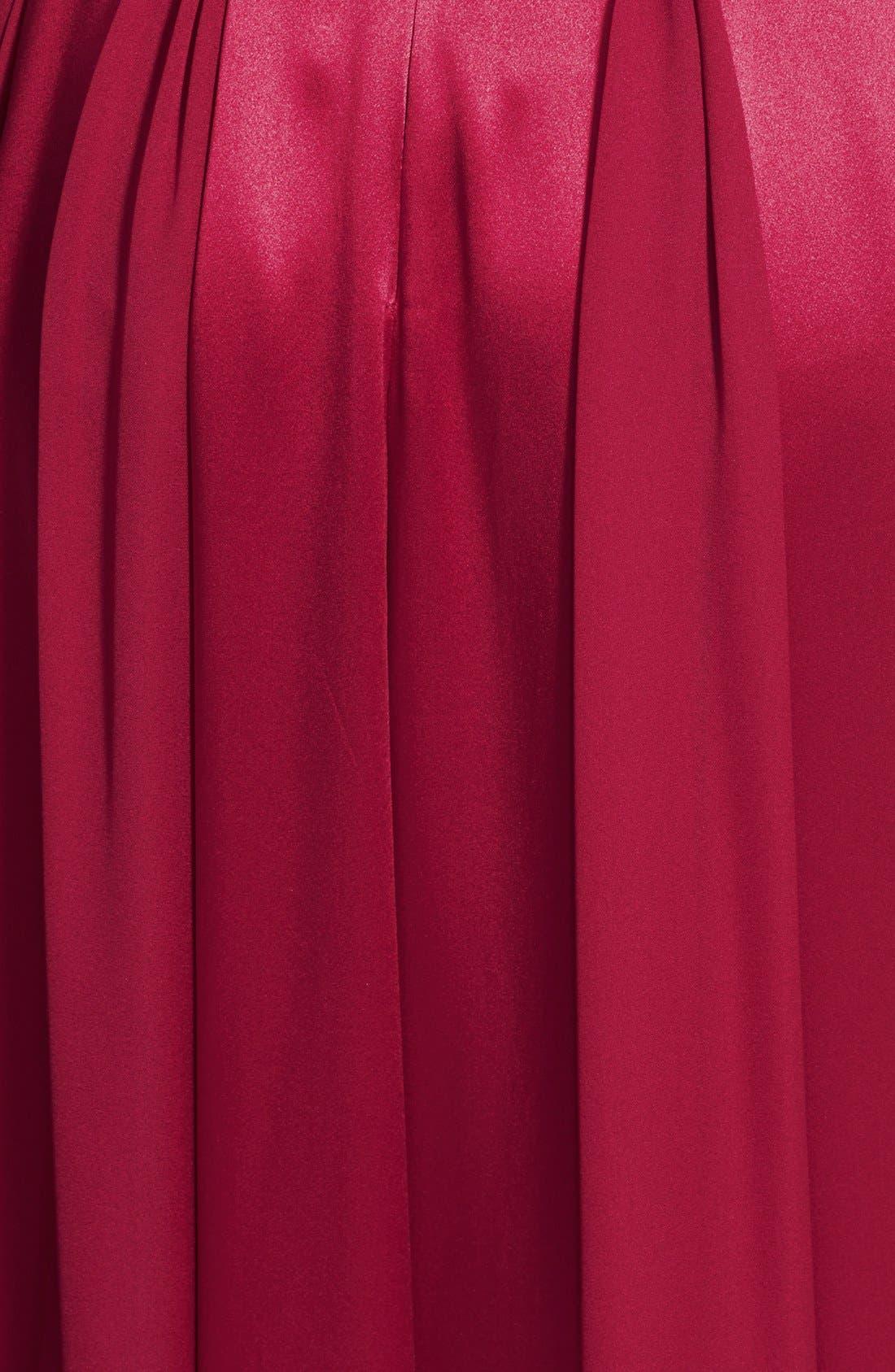 Alternate Image 3  - Halston Heritage Satin Fit & Flare Gown