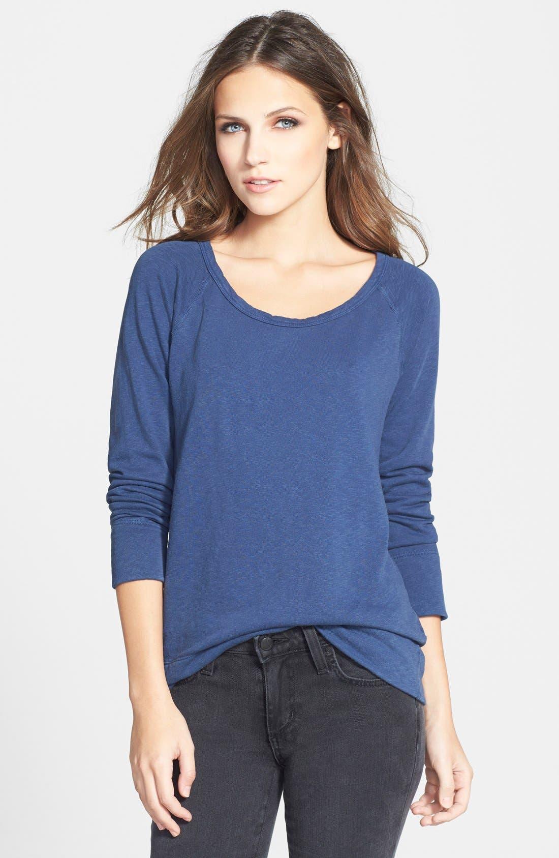 Alternate Image 1 Selected - James Perse 'Vintage' Cotton Raglan Pullover
