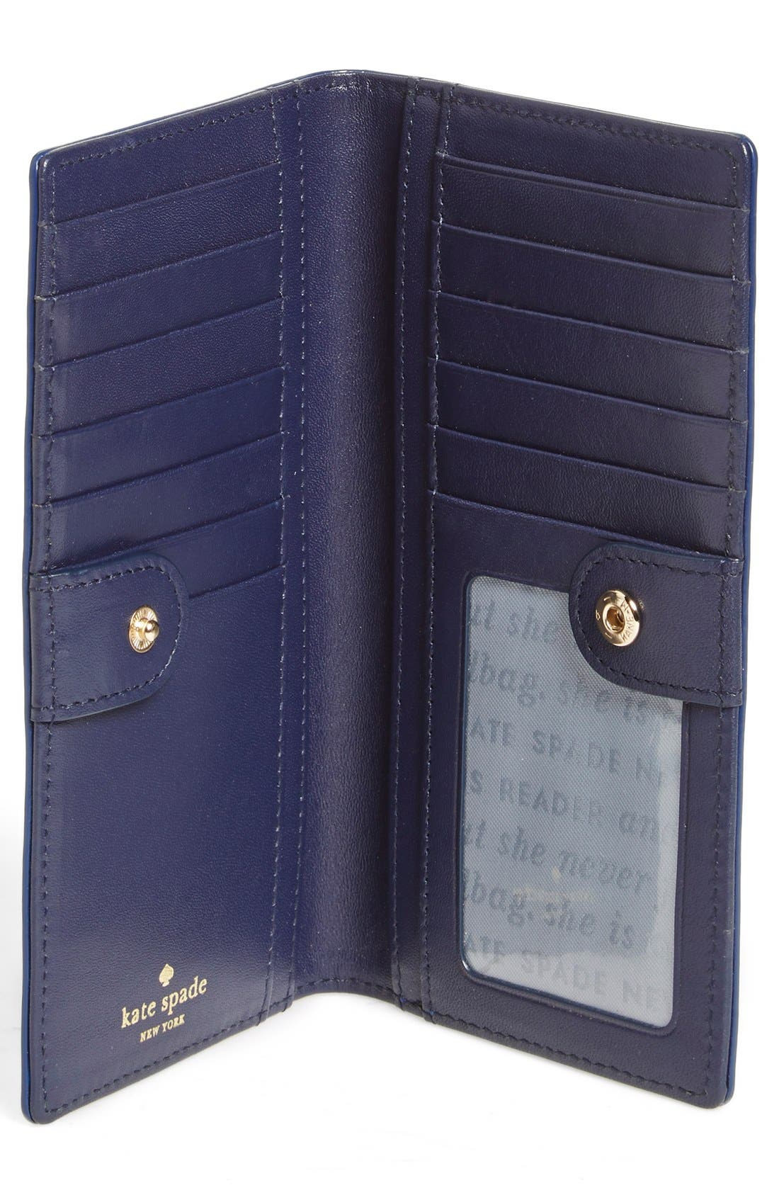 Alternate Image 2  - kate spade new york 'cedar street - ombré patent stacy' leather clutch wallet
