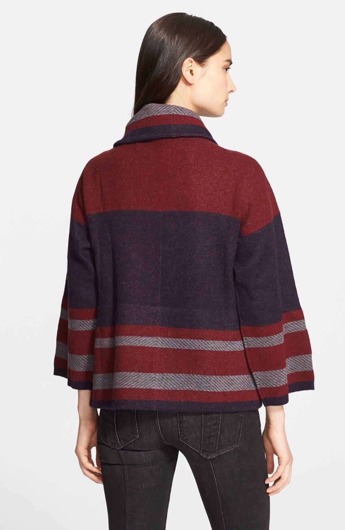 Alternate Image 3  - Burberry Brit Wool Blend Blanket Wrap