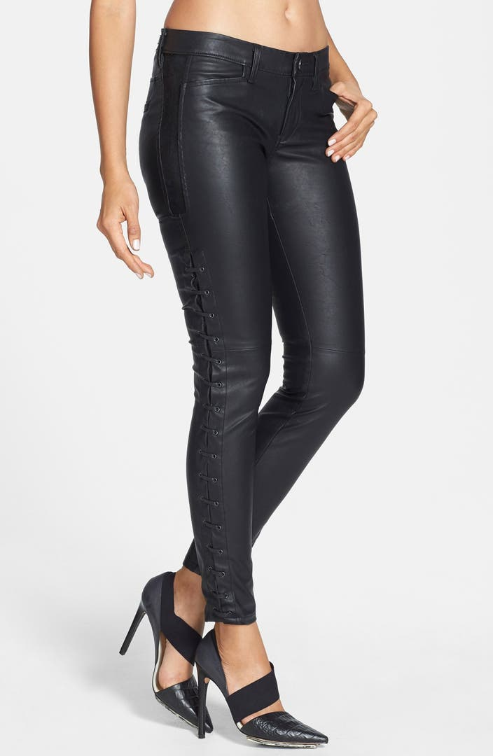 Blanknyc Faux Leather Lace Up Pants Nordstrom