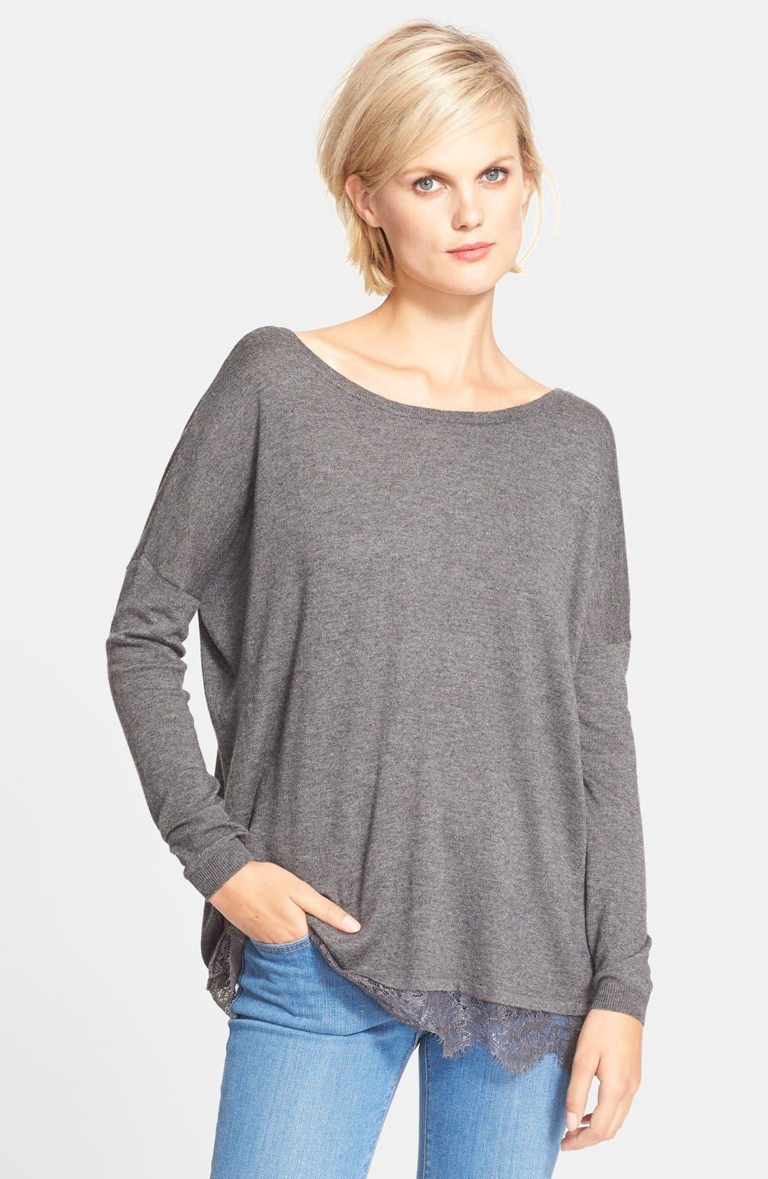Alternate Image 1 Selected - Joie 'Yael' Lace Hem Sweater