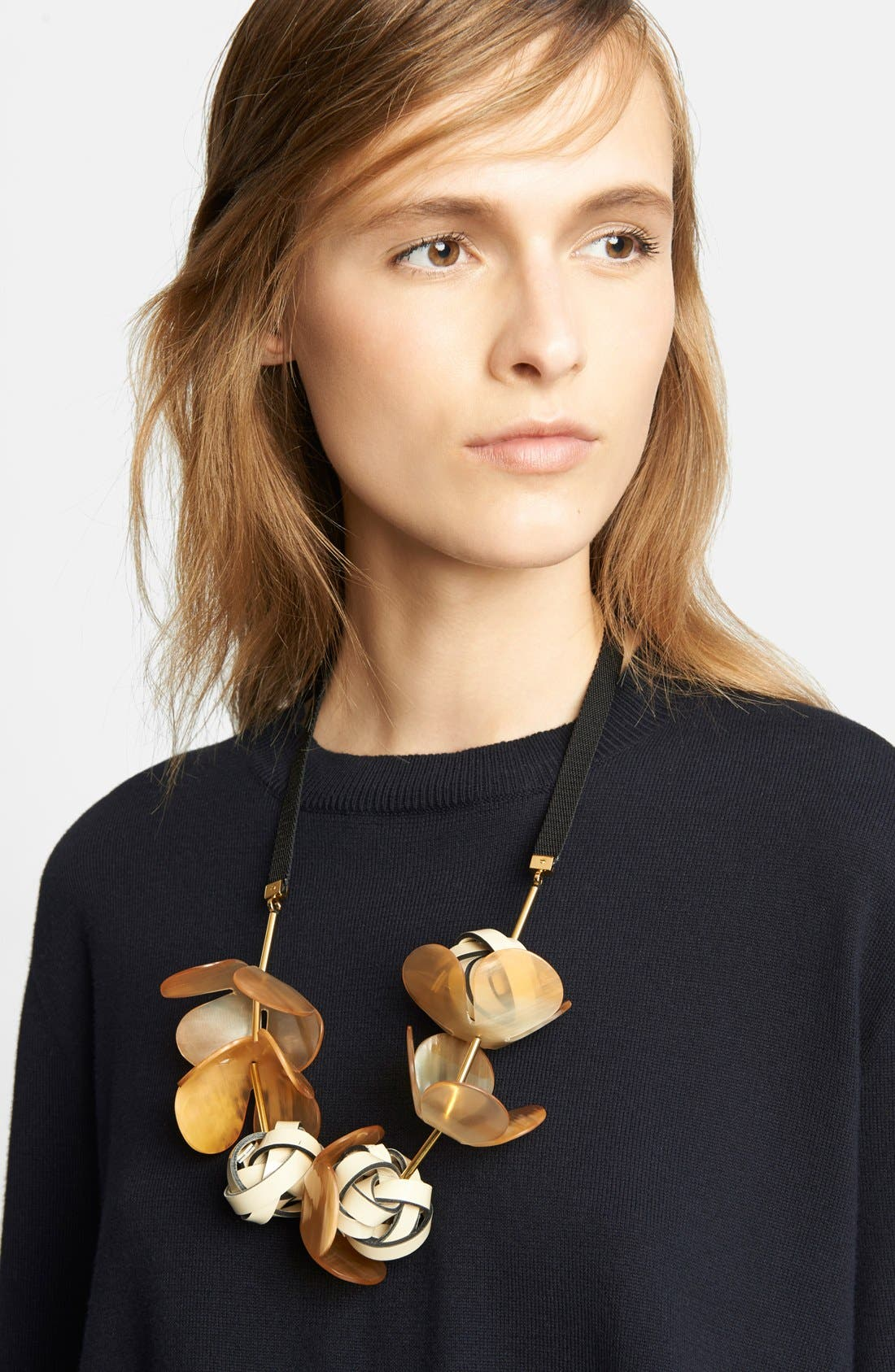 Alternate Image 1 Selected - Marni Floral Necklace on Ribbon
