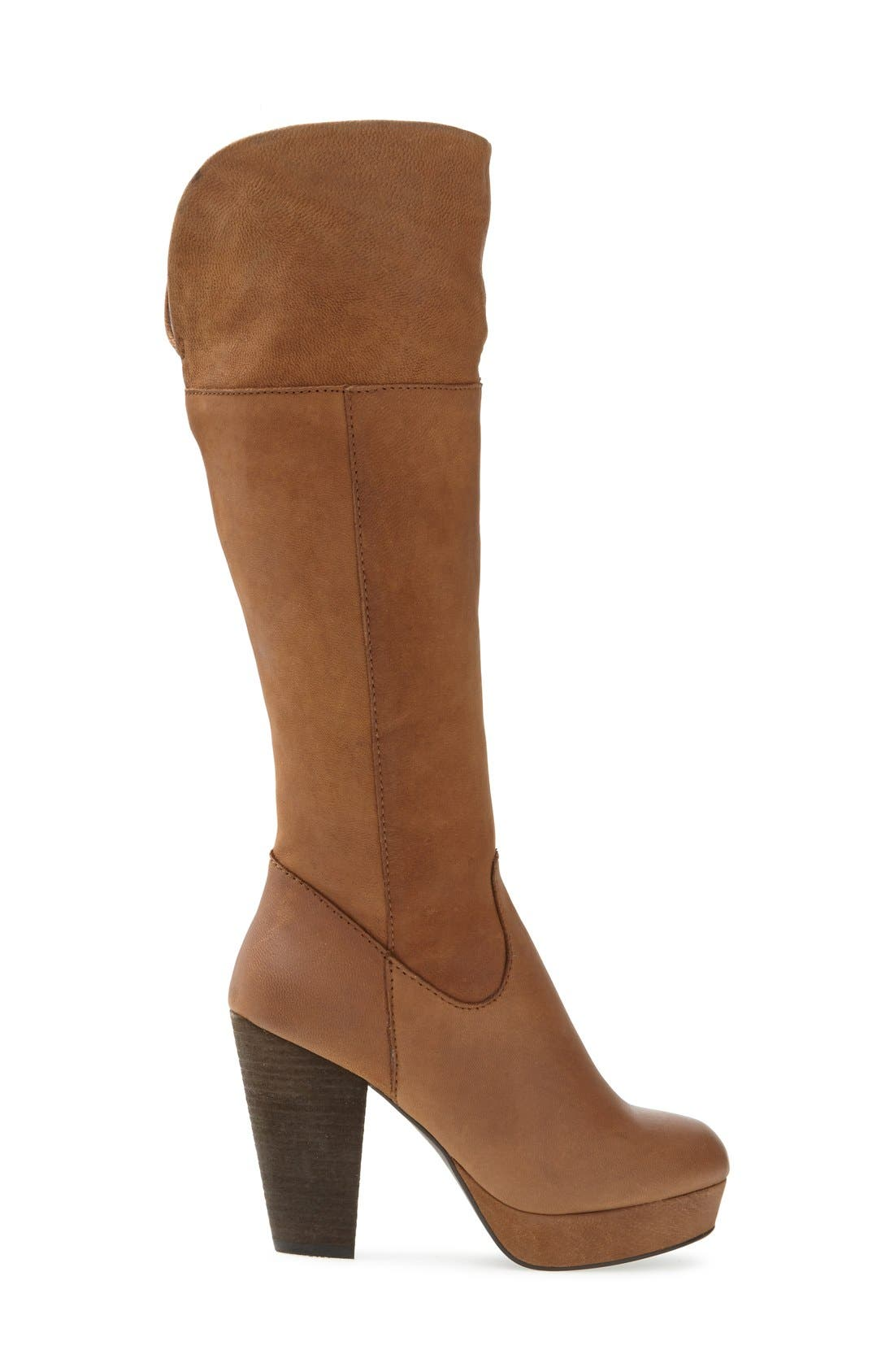 Alternate Image 4  - Steve Madden 'Rackey' Leather Platform Boot (Women)