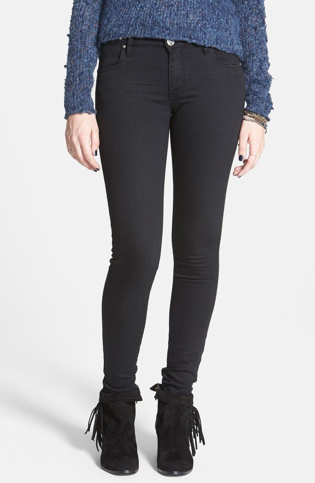 Alternate Image 1 Selected - STS Blue Stretch Skinny Jeans (Black)